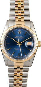 Used Rolex Datejust 16233 Two Tone Watch