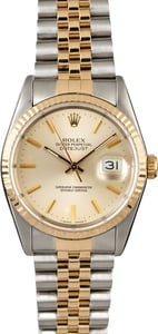 Rolex Datejust 16233 Silver Dial Men's Watch