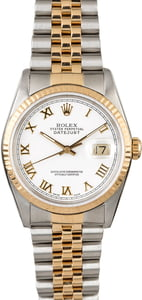 PreOwned Rolex Datejust 16233 White Dial