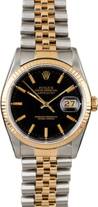Used Rolex Datejust 16233 Black Index Dial