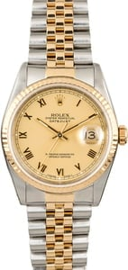 Pre-Owned Rolex Datejust 16233 Champagne Dial