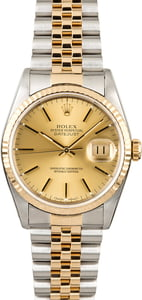 Used Rolex Datejust 16233 Two Tone