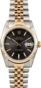 Rolex Datejust 16233 Black Tapestry