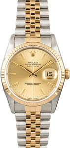 Rolex Datejust 16233 Two Tone PreOwned Watch
