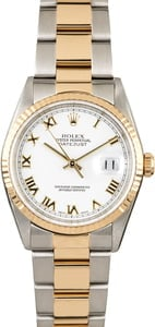 Rolex Datejust 16233 Steel & Gold Oyster Band