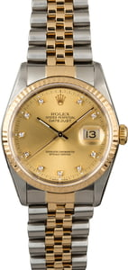 PreOwned Rolex Datejust 16233 Diamond Dial