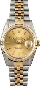 Rolex Datejust 16233 Champagne Dial Two Tone