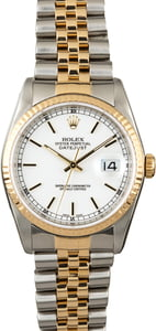 Used Rolex Datejust 16233 White Dial