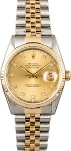 Men's Rolex Datejust 16233 Diamond Markers