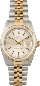 Certified PreOwned Rolex Datejust 16233 Silver Dial