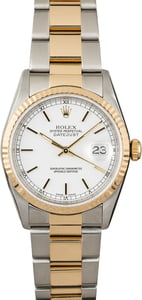 Men's Rolex Datejust 16233 Steel & Gold Oyster Band