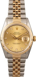 Rolex Datejust 16233 Two Tone with Diamond Dial