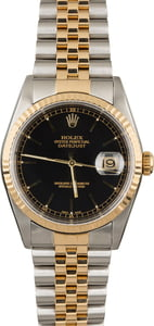 Rolex Datejust 16233 Two Tone with Black Index Dial