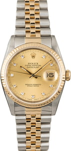 Pre Owned Rolex Datejust 16233 Diamond Dial Men's Watch