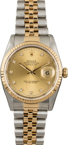 Used Rolex Datejust 16233 Diamond Dial PreOwned