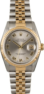 Rolex Datejust 16233 Two Tone with Rhodium Roman Dial
