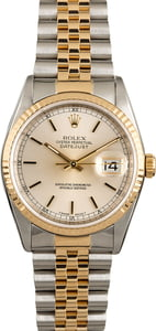PreOwned Rolex Datejust 16233 Two Tone Jubilee Band