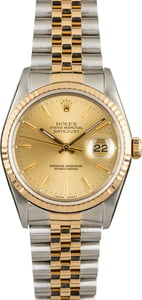 Pre Owned Rolex Datejust 16233 Champagne Index Dial
