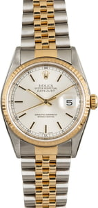 PreOwned Rolex Datejust 16233 Silver Luminous Dial