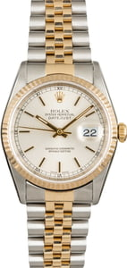 Rolex Datejust 16233 Silver Luminous Dial