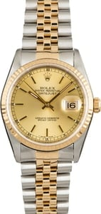 Pre Owned Rolex Datejust 16233 Champagne
