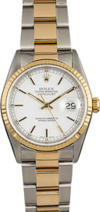 Rolex Datejust 16233 Luminous White Index Dial