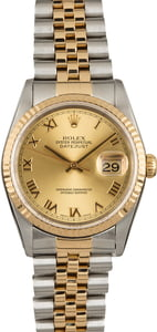 Used Rolex Datejust 16233 Champagne Roman Dial