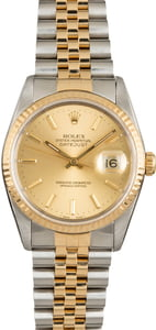 Used Rolex Datejust 16233 Champagne Index Dial