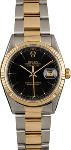Rolex Datejust 16233 Black Luminous Index Dial