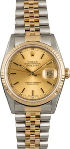 Rolex Datejust 16233 Luminous Champagne Dial