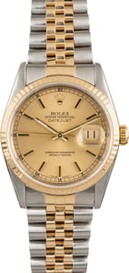 Used Rolex Datejust 16233 Luminous Champagne Dial