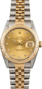 Used Rolex Datejust 16233 Diamonds