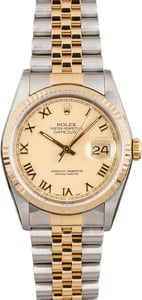 Rolex Datejust 16233 Two Tone Roman Markers