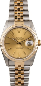 PreOwned Champagne Index Dial Rolex Datejust 16233