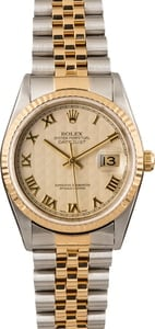 Pre Owned Rolex Datejust 16233 Ivory Pyramid