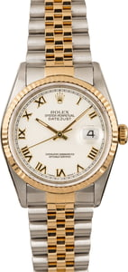 Used Rolex Datejust 16233 Roman Dial