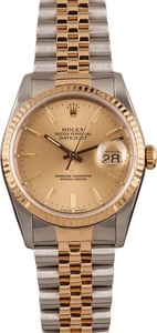 Used Rolex Datejust Champagne Roman Dial 16233