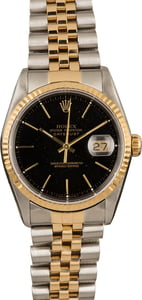 Pre-Owned Rolex Datejust 16233 Black Index Dial T