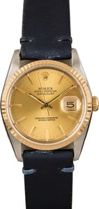Pre Owned Rolex Datejust 16233 Leather Strap