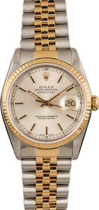 Pre-Owned Rolex Silver Dial Datejust 16233