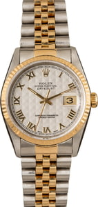 Pre-Owned Rolex Datejust 16233 Pyramid Dial T