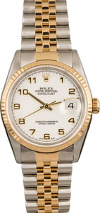 Pre-Owned Rolex Datejust 16233 White Arabic Dial