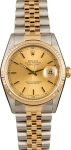 Rolex Datejust Two Tone 16233