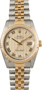Used Rolex Datejust 16233 Ivory Pyramid Roman Dial