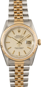 Pre Owned Rolex Datejust 16233 Ivory Jubilee