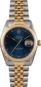 Pre Owned Blue Dial Rolex Datejust 16233