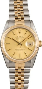 Pre Owned Champagne Rolex Datejust 16233