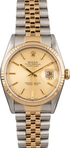 Pre Owned Rolex Datejust 16233 Tapestry Dial
