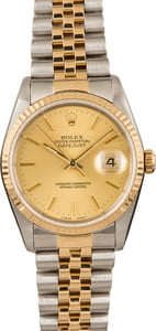 Pre-Owned Rolex Datejust 16233 Champagne Index Watch