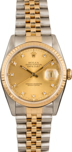 Pre-Owned Rolex Datejust 16233 Diamond Dial Watch